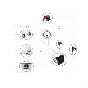 Электрооборудование: ходовые огни, кормовой огонь, площадка под аккумулятор, выключатель массы, клавиши (2шт), 2 прикуривателя, помпа, проводка в гофре с предохранителями, манжета для пучка проводов. +13 000 руб.