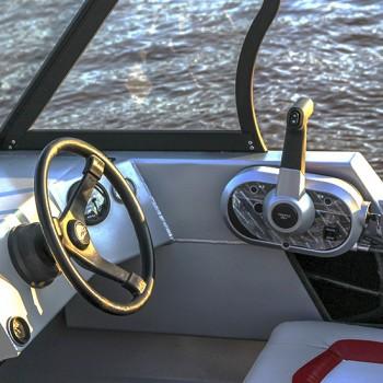 Рулевое управление: рулевой редуктор «PRETECH», рулевой трос М66, штурвал (руль) - на выбор, манжета под рулевой трос. +13 000 руб.