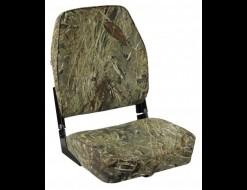 Кресло складное мягкое ECONOMY с высокой спинкой, обивка камуфляжная ткань