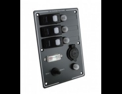 Панель бортового питания 3 переключателя с автоматами, прикуривателем и индикатором заряда батарей