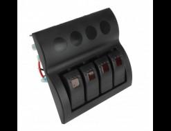 Панель бортового питания 4 переключателя с автоматами
