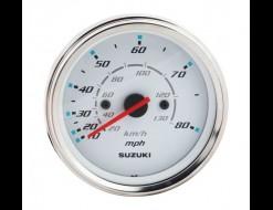 """Спидометр Suzuki 4"""", 130 км/ч, 80 миль, белый"""