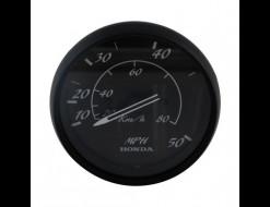 Спидометр манометрический 0-50 MPH, Honda, черный д. 85 мм