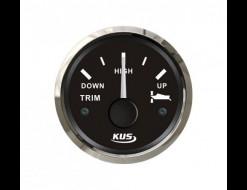 Трим-указатель 190-0 Ом, черный циферблат, нержавеющий ободок, д. 52 мм