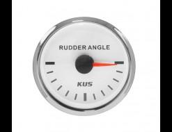 Указатель угла поворота руля, белый циферблат, нерж. ободок, д. 52 мм, 87-900 Ом
