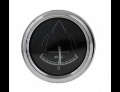 Указатель угла поворота руля, черный циферблат, нерж. ободок, д. 52 мм, 0-190 Ом