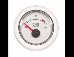 Указатель уровня сточных вод, 12 В, белый